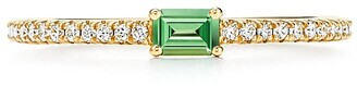 Tiffany & Co. & Co. Novo Horizon ring in 18k gold with a tsavorite and diamonds - Size 6 1/2