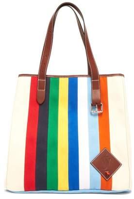 J.W.Anderson Striped Canvas Tote Bag - Womens - Multi