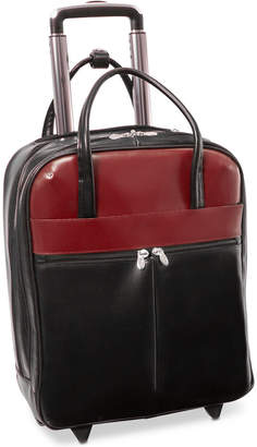 """McKlein Volo 15.6"""" Leather Laptop Carry-On"""
