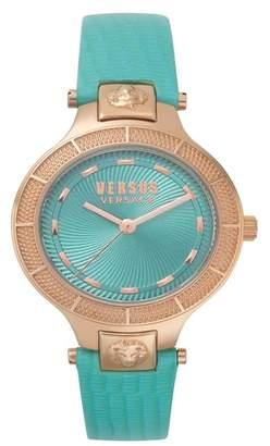 Versus By Versace VERSUS Versace Claremont Leather Strap Watch, 32mm