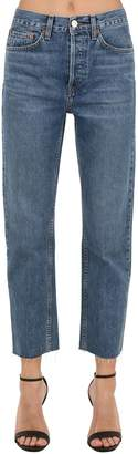 RE/DONE Re Done Hi Rise Stove Pipe Straight Denim Jeans
