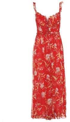 Zimmermann Floral-printed silk jumpsuit