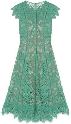 Lela Rose - Corded Lace Dress - Mint $1,895 thestylecure.com