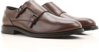 Tod's Monk Strap Shoes In Semi-glossy Leather