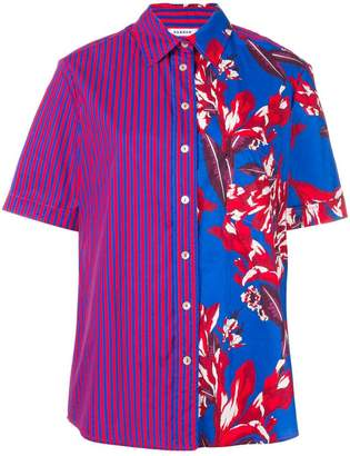 P.A.R.O.S.H. contrast short-sleeve shirt