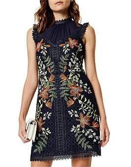 Karen Millen Embroidered Sleeveless Dress