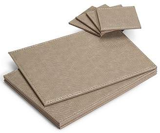 Marks and Spencer 4 Pack Faux Leather Mat & Coasters