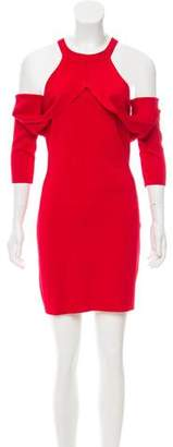 Dion Lee Cold-Shoulder Mini Dress