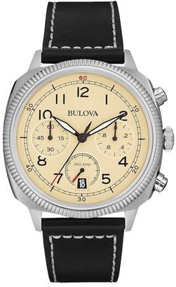 Bulova Men's UHF Quartz Leather Strap Watch, 42mm