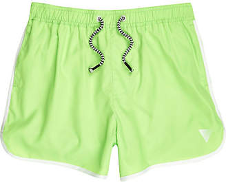 River Island Boys fluro Green green runner swim shorts