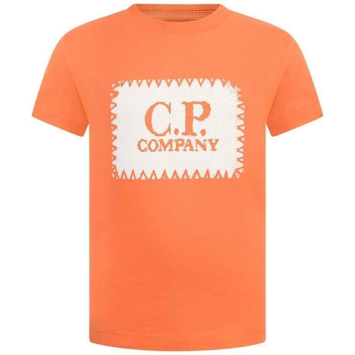 C.P. CompanyBoys Orange Logo Top