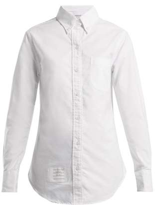 4de8a3eb529f COM · Thom Browne Single Cuff Cotton Oxford Shirt - Womens - White