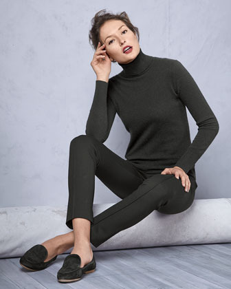 Neiman Marcus Cashmere Long-Sleeve Turtleneck