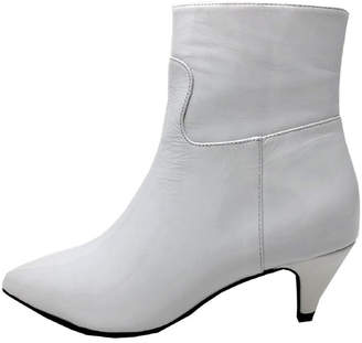 Jeffrey Campbell White Patent Boot