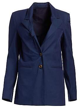 By Any Other Name Women's Tie Lapel Ribbed Cotton Blazer