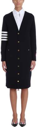 Thom Browne Front-to-back Reversible Cardigan Dress
