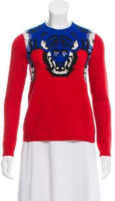 Gucci 2016 Wool Silk-Trimmed Sweater