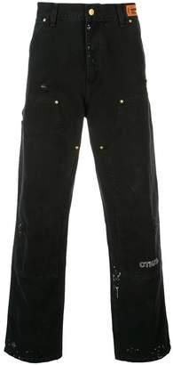 Heron Preston wide-leg jeans