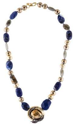Alexis Bittar Imperial Noir Sodalite, Labradorite & Crystal Beaded Necklace