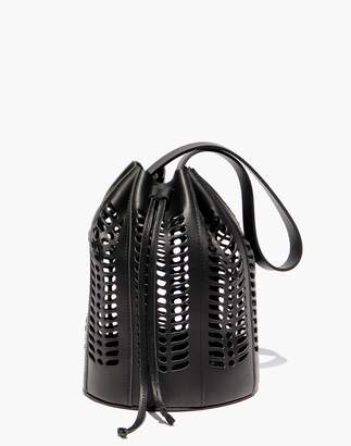 Madewell Modern Weaving Jute Die Cut Bucket Bag