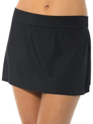 Magicsuit Solid Swim Skirt $74 thestylecure.com