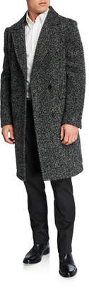 Karl Lagerfeld Paris Men's Double-Breasted Wool Top Coat