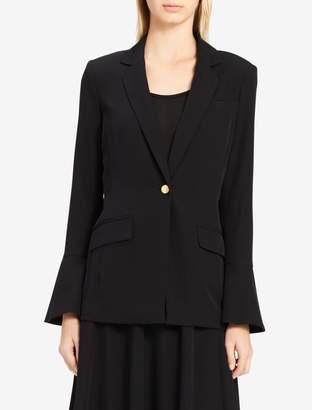 Calvin Klein bell sleeve single button blazer
