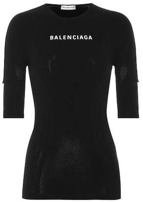 Balenciaga Stretch logo top