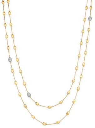 Marco Bicego 18K Yellow Gold Siviglia Diamond Long Station Necklace, 49.25""