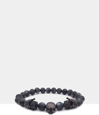 Skulll Charm Bracelet Grey Stone