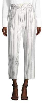 Robert Rodriguez Striped Cotton Corset Pants