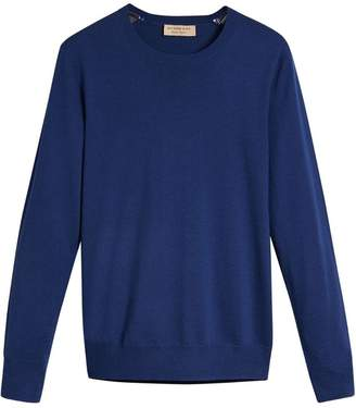 Burberry Tipped Cotton Jersey Sweater