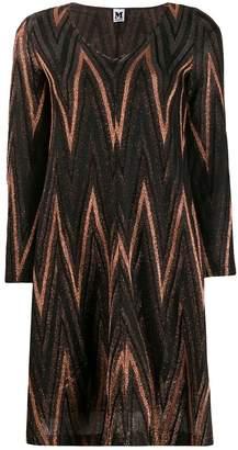 M Missoni Zigzag metallic knit dress
