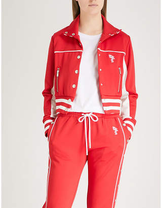 The Kooples Striped-trim jersey jacket