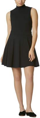 AVEC LES FILLES Mock Neck A-Line Dress