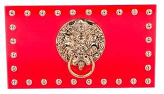 Charlotte Olympia Lion Pandora Box Clutch Red Lion Pandora Box Clutch