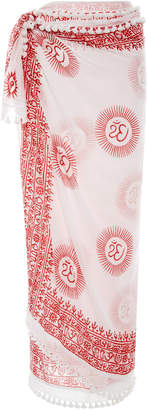 Matta Dupatta Printed Cotton and Silk-Blend Sarong