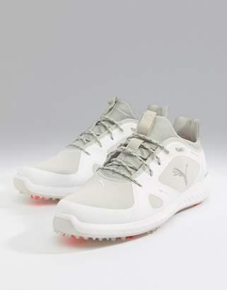 Puma Ignite power adapt spike sneakers in white 18989101