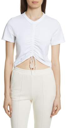 Alexander Wang Ruched Cotton Tee