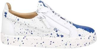 Giuseppe Zanotti Design Sneakers May In Rectile Printed Leather White Color
