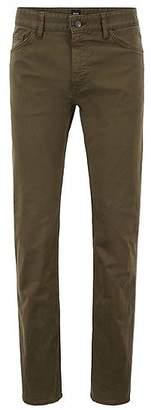 HUGO BOSS Regular-fit jeans in diamond-brushed stretch denim