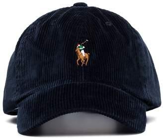 Polo Ralph Lauren logo corduroy baseball cap