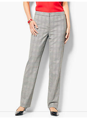 Talbots Glen Plaid Straight-Leg Pants