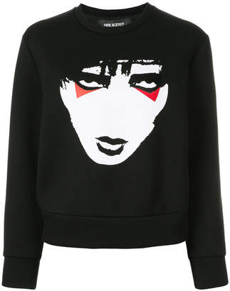 Neil Barrett Kiss print jumper