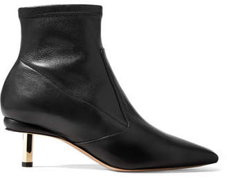 Nicholas Kirkwood Polly Leather Sock Boots - Black