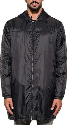 Mauro Grifoni Black Nylon Hooded Coat