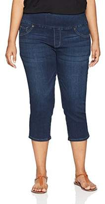 Lee Women's Plus-Size Slimming Fit Pull On Capri Jean
