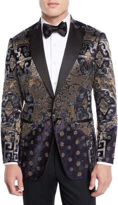 Etro Men's Paisley Embroidered Velvet Dinner Jacket