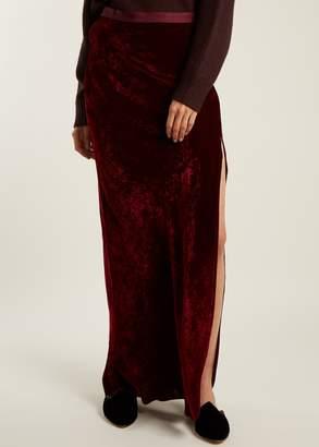 Nili Lotan maya maxi skirt burgundy (2)