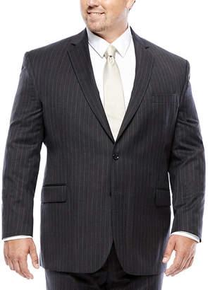 STAFFORD Stafford Charcoal Chalk Stripe Suit Jacket - Big & Tall